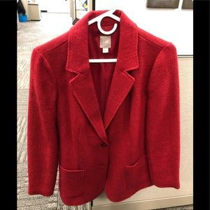 JJill bright red wool blazer